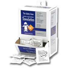 Safety Zone Lens Cleaning Towelettes - For Lens, Safety Glasses - Pre-moistened, Anti-fog, Anti-static, Silicone-free