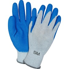 SZN GRSLSM Safety Zone Blue/Gray Latex Coated Knit Gloves SZNGRSLSM