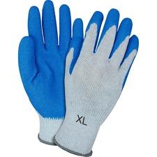 SZN GRSLXL Safety Zone Blue/Gray Latex Coated Knit Gloves SZNGRSLXL