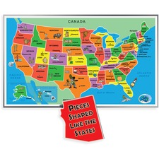 ABW153A - A Broader View 55-piece Kids Jumbo USA Puzzle