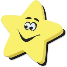 ASH10016 - Ashley Yellow Star Magnetic WhiteBoard Eraser