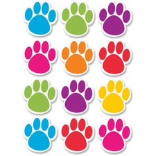 ASH 10057 Ashley Prod. Die-cut Magnetic Dry Erase Paw Prints ASH10057