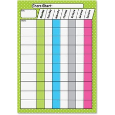 ASH 10089 Ashley Prod. Magnetic Dry Erase Chore Chart ASH10089