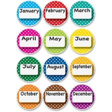 ASH 10095 Ashley Prod. Dotted Border Months Die-cut Magnets ASH10095