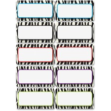 ASH 10116 Ashley Prod. Zebra Print DryErase Nameplate Magnet ASH10116