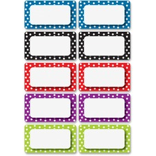 ASH 10118 Ashley Prod. Dotted Dry Erase Nameplate Magnets ASH10118