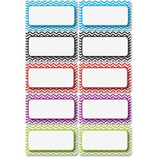 ASH 10133 Ashley Prod. Chevron Border Die-cut Nameplates  ASH10133