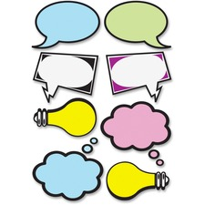 ASH 10137 Ashley Prod. Speech Bubbles Dry Erase Magnets ASH10137