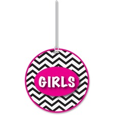 ASH10443 - Ashley Chevron Pattern Gender Hall Pass