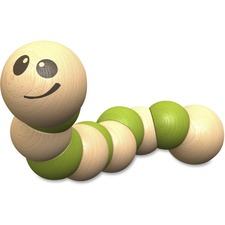 BGA B1208 BeginAgain Toys Earthworm Wooden Toy BGAB1208