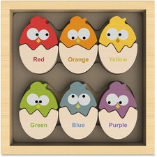 BeginAgain Toys Color 'N Eggs Matching Game