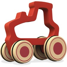 BGA B1601 BeginAgain Toys Push Around Tractor Toy BGAB1601