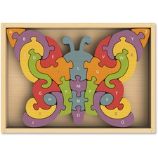 BeginAgain Toys Butterfly A-Z Puzzle