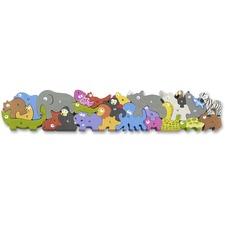 BeginAgain Toys Jumbo Animal Parade A-Z Puzzle