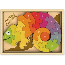 BGA I1401 BeginAgain Toys Counting Chameleon Puzzle BGAI1401