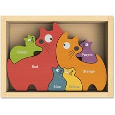 BGA I1502 BeginAgain Toys Cat Family Bilingual Puzzle BGAI1502