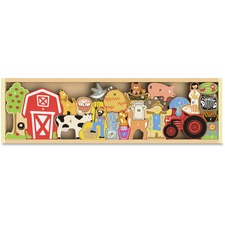 BGA I1601 BeginAgain Toys The Farm A to Z Puzzle  BGAI1601