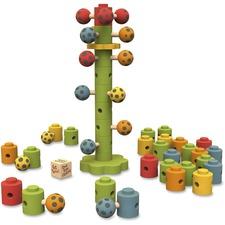 BeginAgain Toys Ladybug Flower Tower Game