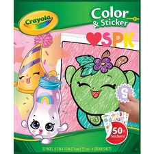 CYO 045854 Crayola Shopkins Color/Sticker Book CYO045854