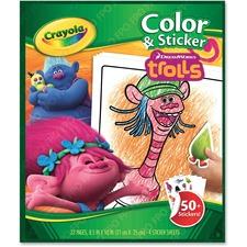 CYO 046921 Crayola Trolls Color/Sticker Book CYO046921