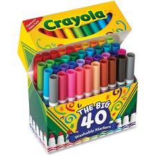CYO 587858 Crayola The Big 40 Washable Markers CYO587858