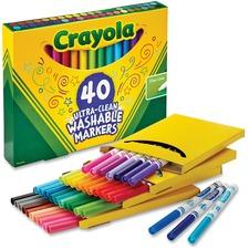 CYO 587861 Crayola 40 Ultra-Clean Fine Line Washable Markers CYO587861