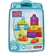 MBL DLH85 Mega Bloks Basic Building Block 20-piece Set MBLDLH85
