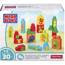 MBL DPY42 Mega Bloks Stacking Snacks Building Blocks Set MBLDPY42