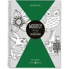 Roaring Spring Modern Jen Woodsy Thm Coloring Book Coloring Printed Book - Book - 28 Pages