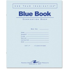 ROA 77513EA Roaring Spring Wide-ruled Blue Examination Book ROA77513EA