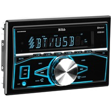 BOSS AUDIO 820BRGB Double-DIN MECH-LESS Multimedia Player (no CD or DVD), Receiver, Bluetooth, Wireless Remote
