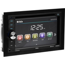 BOSS AUDIO BV9351B Double-DIN 6.2 inch Touchscreen DVD Player, Receiver, Bluetooth, Wireless Remote
