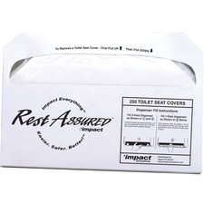 IMP 25183273 Impact Rest Assured Half Fold Toilet Seat Covers IMP25183273