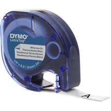 "Dymo LetraTag 18771 Fabric Iron on Tape - 0.5"" x 6.5' - 1 x Roll"