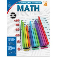 CDP 104850 Carson Grade 4 Applying the Standards Math Workbk CDP104850