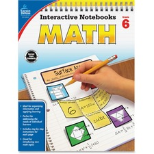 CDP 104910 Carson Grade 6 Math Interactive Notebook CDP104910