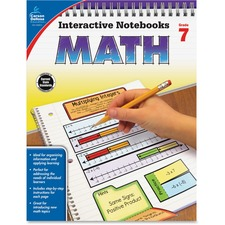 CDP 104911 Carson Grade 7 Math Interactive Notebook CDP104911