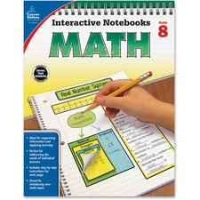 CDP 104912 Carson Grade 8 Math Interactive Notebook CDP104912