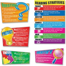 CDP 110103 Carson Reading Strategies Bulletin Board Set CDP110103