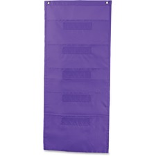 CDP 158563 Carson File Folder Storage Purple 5-Pocket Chart CDP158563