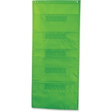 CDP 158565 Carson File Folder Storage Lime Pocket Chart CDP158565