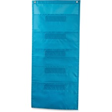 CDP 158567 Carson File Folder Storage Teal Pocket Chart CDP158567