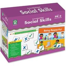 CDP 840027 Carson Grade PreK-2 Social Skills File Folder Game CDP840027