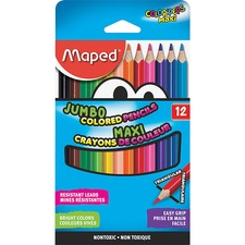 HLX 834049ZV Helix Jumbo Colored Pencils HLX834049ZV