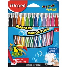 HLX 845448 Helix Maped Fine Tip Washable Markers HLX845448