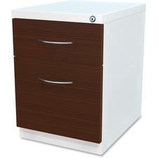 LLR34423 - Lorell Box/File Laminate Wood Mobile Pedestal