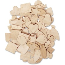 PAC AC370001 Pacon Creativity Street Natural Wood Shapes Set PACAC370001