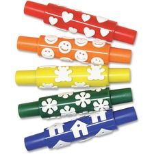 PAC AC9084 Pacon Set A Foam Pattern Rolling Pins PACAC9084
