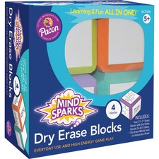 PAC AC9306 Pacon Mind Sparks Dry Erase Blocks PACAC9306
