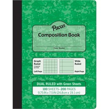 PAC MMK37162 Pacon Dual Ruled Composition Book  PACMMK37162